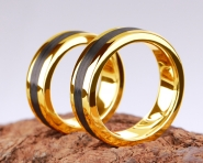 3rd Edition Carbon Ring in 585er Gelbgold
